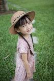 Vestito 100% dalla ragazza di fiore dell'abito dei bambini del cotone per estate