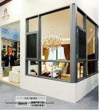 Kundenspezifisches hölzernes Farben-Doppelt-Glasaluminiumflügelfenster-Fenster