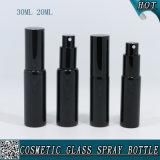 bouteille de parfum en verre de jet de fiole de 20ml 30ml avec la pompe noire de jet de vis