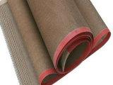 Do engranzamento revestido da tela da fibra de vidro de PTFE correia transportadora