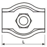 강철 직류 전기를 통하는 스테인리스 304 316 단순한 철사 밧줄 클립 모형 박사 Z0012