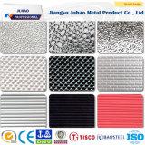 201 304 en relief la plaque en acier inoxydable à carreaux décoratifs pour la vente