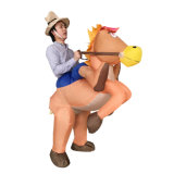 Facendo pubblicità al costume ambulante del cowboy gonfiabile di Hallowmas da vendere