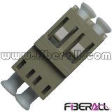 Adattatore di fibra ottica duplex di LC senza multimoda beige di plastica della flangia