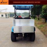 Carro de golfe elétrico do transporte de 2 passageiros com a caixa traseira da carga