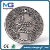 Medaglia d'argento personalizzata commerci all'ingrosso del metallo