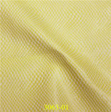 Cuero sintetizado grabado alta calidad de la PU de la serpiente para los zapatos, bolsos
