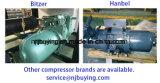70ton 85HP industrieller Bitzer Kompressor abgekühlter Schrauben-Wasser-Kühler