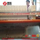 Presse de filtre hydraulique de 1250 pp pour l'eau usagée de laverie de charbon