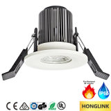 Fuego 8W clasificado Dimmable LED Downlight del Ce SAA TUV IP65 90mins