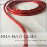 0AWG 2 AWG 4 AWG Gaine en PVC transparent Câble d'alimentation de voiture