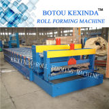 1035 Metalldach gewellte Blatt-Wand-strukturelle glasig-glänzende Fliese-Stahlrolle, die Maschine bildet