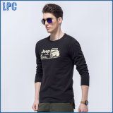 T-shirt d'hommes peigné par 100% d'impression de coton de marque de qualité