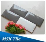 la glassa lucida grigia di 75X150mm di ceramica Pane-Osserva le mattonelle della parete