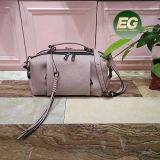 실제적인 가죽 여성 핸드백 프린지 훈장 Emg5091를 가진 연약한 운반물 어깨에 매는 가방