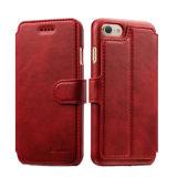 Аргументы за iPhone7 7plus кожи бумажника мобильного телефона с гнездом для платы
