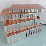 Panneaux ignifuges en aluminium de mousse acoustique de papier d'aluminium d'âme en nid d'abeilles (HR374)