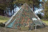 شخص مسيكة عسكريّ خيمة أسرة كبير خارجيّ [كمب تنت]