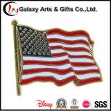 США болееКороткое Поляк подгоняли Pin флага золота отлакированный металлом