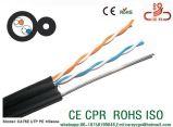 Drop câble téléphonique sur le fil 24AWG 1paire&2paire du câble de plein air