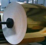 Fabrication d'imprimés colorés en papier métallisé