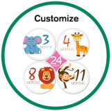 カスタム金属のロゴによって印刷されるシリコーン3Dの泡のペーパーステッカー