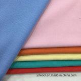 Il tessuto tutto delle lane della spazzola della saia colora Greige pronto