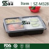 Vorbereitungs-Naturmensch-runde Mahlzeit-Vorbereitungs-Behälter mit wasserundurchlässigen Kappen und Plastiktischbesteck-Sets
