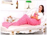 Beautiful Crochet Tricoté Plush Mermaid Tail Blanket Easter