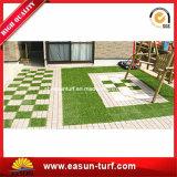 Mosaico de enclavamiento de césped artificial para Jardín decorativo