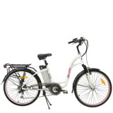 安いディスクブレーキの合金フレームのブラシレス電気バイクの中断フォークによってモーターを備えられる自転車