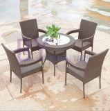 Komplette Sets des PET Rattan-Garten-Balkons legt ver und sitzt Möbel-Kombination vor