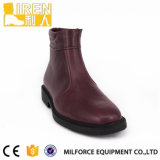 Ботинки шеи Brown Mens отдельных видов материалов кожаный отрезанные максимумом высокие
