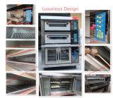 Grande forno elétrico de venda quente da plataforma da capacidade de cozimento para a pizza