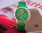 중국 공장 도매 숙녀 시계, 가죽끈을%s 가진 고품질 형식 여자 시계