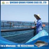 Gaiola de flutuação dos peixes do HDPE do equipamento da cultura aquática