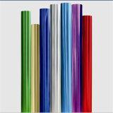 Colorear la hoja de sellado caliente de la película del holograma para la materia textil y tela y cuero