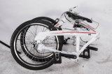 女性都市折るバイクの小型余暇のバイクか自転車