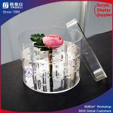 China-Hersteller-Zubehör-runder Acrylschaukarton für Blumen