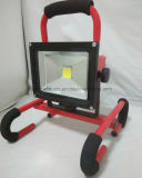 Lámpara de inundación portable y recargable de 20W 8h LED IP65 impermeable