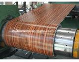 La couleur a enduit la bobine en acier galvanisée de la configuration en bois
