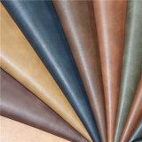 Couro artificial da mobília material elevada do plutônio da proteção ambiental da resistência de abrasão