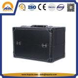 化粧品(HB-6364)のためのレトロ様式の黒の美のケース