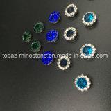 Heißer verkaufen7mm KristallRhinestone beim Nähen auf Strass mit Greifer-EinstellungRhinestone (TP-7mm aller runde Smaragdkristall)