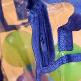 PVC Transparente Zipper Portátil Necessidades Diárias Sacola de Armazenamento de Grande Capacidade