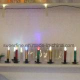 Colore sicuro del fuoco elegante piccolo che cambia le candele d'imitazione senza fiamma elettroniche del cono della sgocciolatura LED