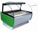 Congelador do gabinete de indicador de Gelato do Popsicle do gelado