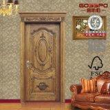 Portes intérieures en bois simples de pièce insonorisée classique chaude de vente (GSP2-078)