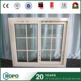 Épreuve saine de PVC de doubles carreaux Windows coulissant avec le modèle de gril