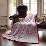 Hot Sale Jacquard Flannel Plush Mink Fleece Blanket